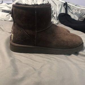 Brown super short ugg boots